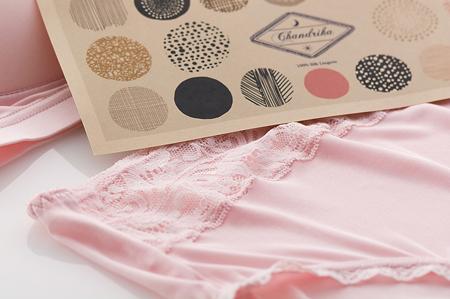 絹のショーツ Chandrika ◆Pink