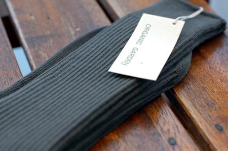 オーガニックコットン100%黒ソックス(メンズ)