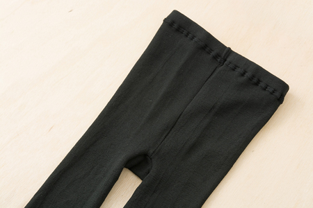 絹のレギンス(ブラック)