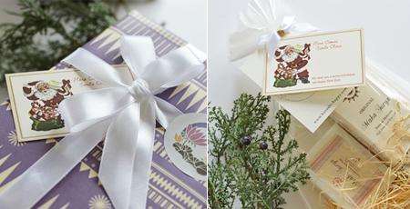 クリスマスカード付きラッピング例