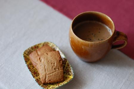 穀物コーヒー豆乳ラテ