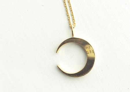 ダイヤモンドネックレス,ゴールドネックレス,ダイヤモンド,月,ムーン,K18,セレクトショップ,通販