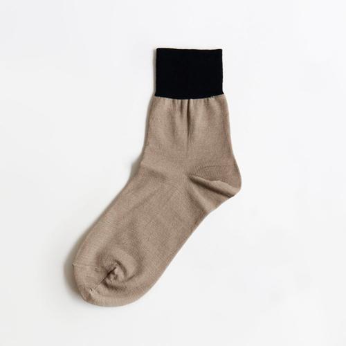 シルクソックス,絹,靴下,絹の靴下,アンクル,バイカラー,RESTFOLK,おしゃれ,お洒落,オシャレ,通販