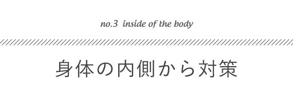 身体の内側から対策